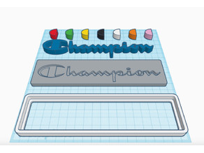 Champion custom logo sign plate