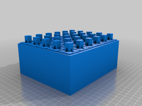 Raft Stacking any object for printing many items at once (OpenSCAD code)