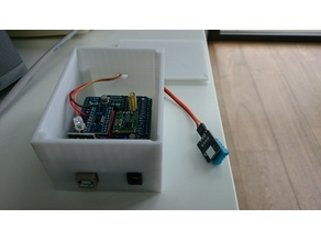 Box Arduino Uno with IR led and Humidity/Temperature external sensor