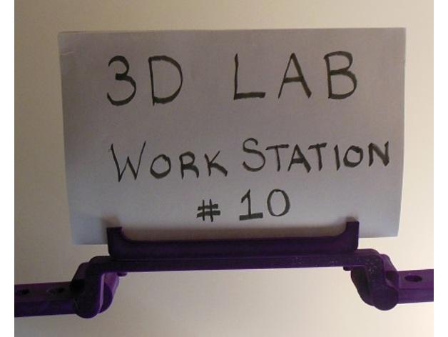 Ender 3 Workstation Name Tag Holder Bracket by 3Dmechbot