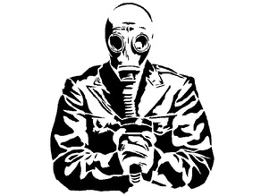 Gas Mask stencil 2