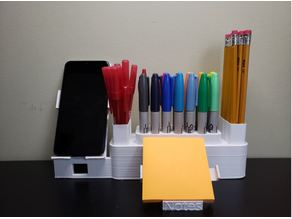 Desk Organizer with Phone Holder and Sticky Notes #studentdesignchallenge