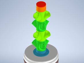 Modular Hydroponics Tower: Ebb & Flow