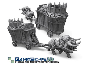 Dire OX and Small Merchant wagon-Promotional-full Model