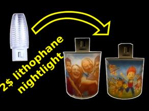 Customisable lithophane night light base