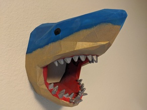 Low-Poly Shark Head For Wall (Large)