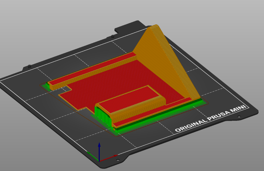TFT70 V3.0 Case Stand cutted for smaller Printbeds