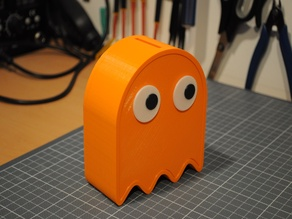 Pac-Man Ghost piggy bank with separate eyes