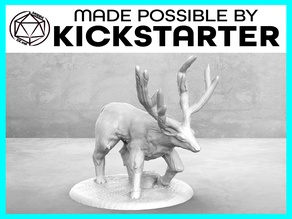 Stag - Action Pose - Tabletop Miniature