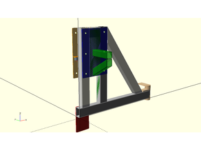 Soporte rueda para golpes hierro parametrico