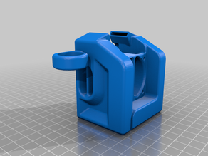 CR-10 Hotend Cover For 5015 Blower with 18mm Sensor Mount