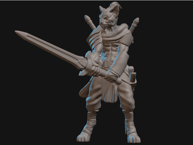 Tabaxi Monk Miniature By Velrock Thingiverse 978 tabaxi monk 3d models. tabaxi monk miniature by velrock