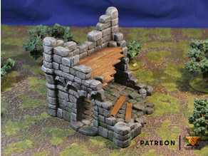 Ruined Town - Set of scenery - Free building