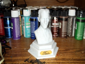 Nikola Tesla Bust with Base and Name Plate