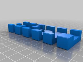 Arbitrary Burr Puzzle STL Engine Six-Piece, Parametric