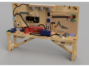 HO Scale Interior Furniture - Garage Workbench