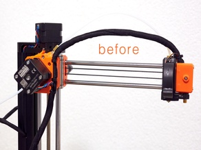 Prusa Mini Hotend Cable Stress Improvement