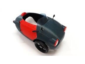 3D PRINTED DIY ELECTRIC CAR, The Jellybean3D 1/10 scale model