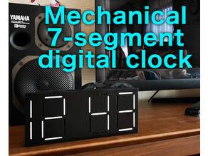 Mechanical 7-segment digital clock