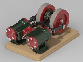 2 Cylinder Sliding Valve Engine