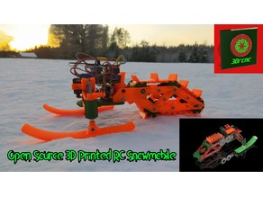 Open Source 3D Printed RC Snowmobile (Using open rc f1 electronics)