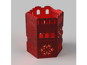 Architectural pen holder 10 cm tall