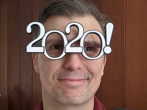 2020 New Year or Graduation Glasses with Dual Extruder Option