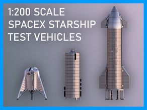 SpaceX Starship Prototypes (Hopper, SN5, SN8) - Now with moveable flaps!