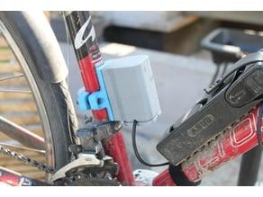 Bike light rugged, quick sliding battery holder