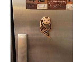 Owl Pendant fridge magnet