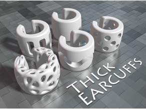 Thick ear cuffs