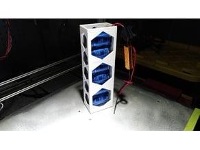 Practical super-capacitor array enclosure (1x6, 16.2v)