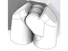 MultiGP hinged corner for PVC gates