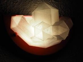 cristal wall lampshade/abat jour mural cristal