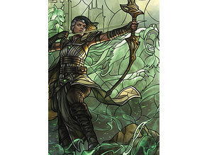 Vivien, Champion of the Wilds - stained glass - litho