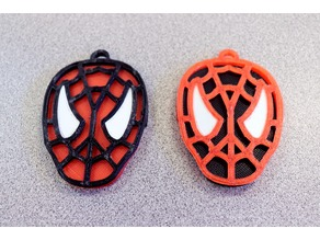 Spider-Man Keychain (Fitted, Multiple Pieces, No Dual Extruder Required)