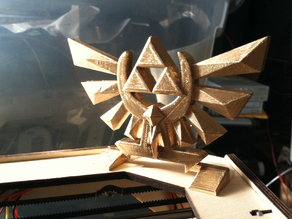 Zelda Hyrule Crest - Standing w/ leg bits - Print flat