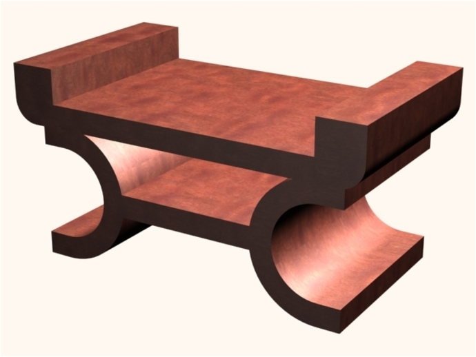 PROTOTYPE OF A MINIATURE TABLE CENTER MODERN STYLE WOOD