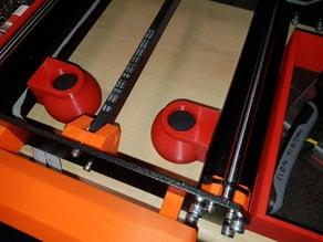 Low profile toolless Prusa i3MK3/S squash ball feet damper vibrations/noise isolator