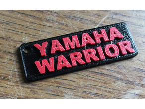 YAMAHA XV1700 Road Star Warrior Keychain