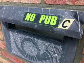 No Pub Sign / Pas de Pub