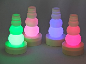 Parametric LED Tea Light Snowman Hat