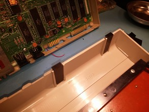 Modified C64 case hinges, fit between existing posts