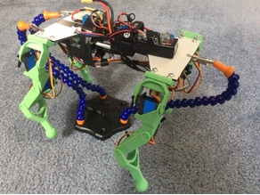 Quadruped Robot Legs for MG92B micro servo