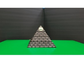 WORN STONE PYRAMID with SECRET COMPARTMENT