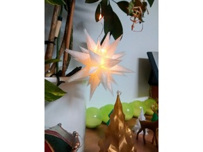 Moravian star with led
