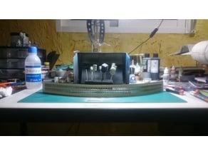 Tres modelos de parrilla del propulsor del Halcón Milenario deagostini.