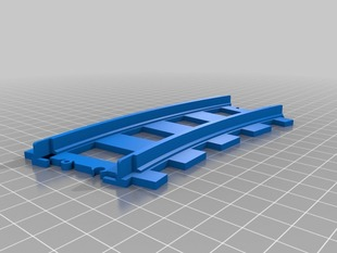 Simple Lego Train Track, Curved