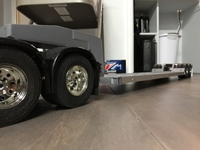 Tamiya Truck 1/14 Compatible Low Boy Trailer v1