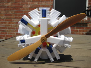 14 Piston Radial Piston Engine Model